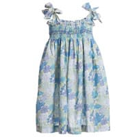 Malvi & Co Blue Floral Cotton Knee Length Dress