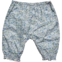 Malvi & Co Isi Baby Blue Cotton Floral Print Trousers