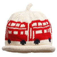 Merry Berries Baby Cotton Knit Ivory London Bus Hat