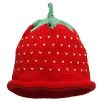 Merry Berries Baby Cotton Knit Red Strawberry Hat
