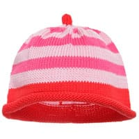 Merry Berries Baby Girls Pink Cotton Knitted Hat