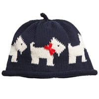 Merry Berries Blue Cotton Scottie Dog Baby Hat