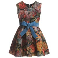 Mi Mi Sol Tapestry Print Neoprene Dress