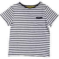Miller Blue and White Striped Cotton T-Shirt