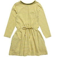 Miller Green and White Striped Cotton Jersey Dress