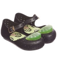 Mini Melissa Black Jelly Shoes with Lime Slice