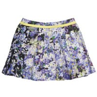 Mini Preen White Cotton Skirt with Bluebell Print