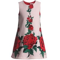 Miss Blumarine Girls Pink and Red Floral Dress