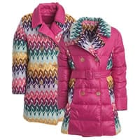 Missoni Girls Pink Down Padded Coat