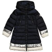 Moncler Girls Blue Down Padded 'Isaline' Coat