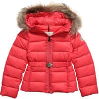 Moncler Girls Pink Down Padded 'Angers' Jacket