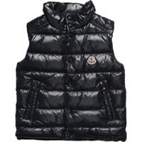 Moncler Navy Blue Down Padded Sleeveless Jacket