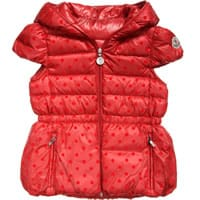 Moncler Red Down Padded 'St. Valery' Jacket