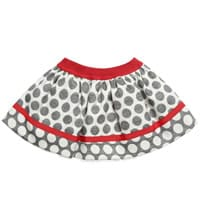 Monnalisa Baby Girls Grey Polkadot Skirt
