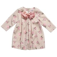 Monnalisa Bebe Baby Girls Pink Viscose Dress