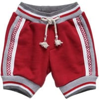 Monnalisa Nylon Boys Red Cotton Jersey Shorts