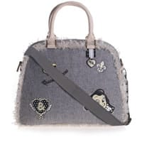 Monnalisa Nylon Girls Grey Wool Blend 'Olive Oyl' Handbag