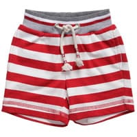 Monnalisa Nylon Girls Red Striped Cotton Jersey Shorts