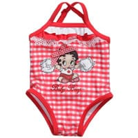 Monnalisa Nylon Red 'Betty Boop' Swimsuit