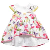 My Collections Baby Girls Floral Cotton Dress
