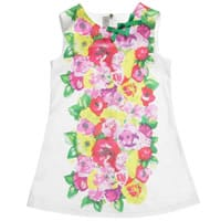 Quis Quis Floral Cotton Mini Dress