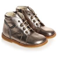 Rap Shoes Metallic Gold Leather Fleece Lined Boots