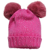 Regina Girls Pink Wool Hat With Fur