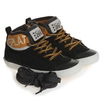 Replay Boys Black Suede Zip-Up Trainers