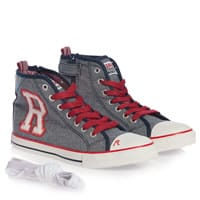 Replay Boys Blue Canvas High-Top Trainers