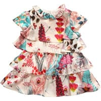 Roberto Cavalli Baby Girls Pink Floral Silk Dress