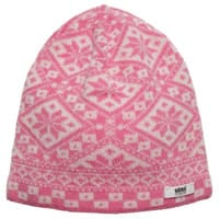 Satila of Sweden Girls Pink Knitted Fair Isle Hat