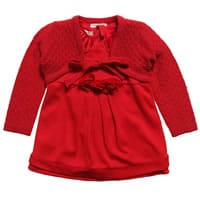 Silvian Heach Baby Girls Red Dress & Cardigan Set