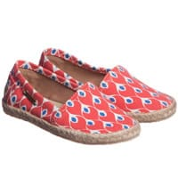 Stella Cove  Girls Red Patterned Espadrille Shoes