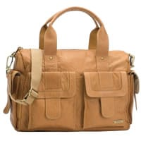 Storksak Tan Leather 'Sofia' Baby Bag (41cm)