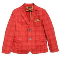 Tagliatore Boys Red Cotton Blazer
