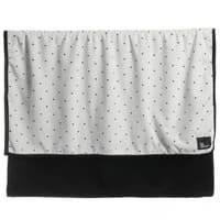 The Tiny Universe Ivory and Black Velour Baby Blanket (98cm)
