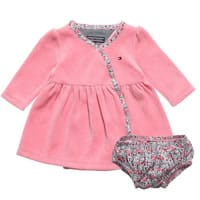 Tommy Hilfiger Baby Girls Pink Dress and Knickers Set