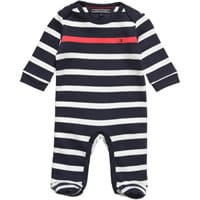 Tommy Hilfiger  Navy Blue and White Striped Babygrow