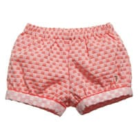 Tru Trussardi  Baby Girls Coral-Pink Checked Shorts