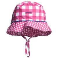 Tutto Piccolo Girls Pink Checked Cotton Hat