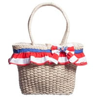 Tutto Piccolo Straw Handbag with Frill (40cm)