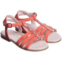 Unisa Girls Coral Suede Leather Sandals