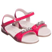Unisa Girls Pink Patent Leather Sandals