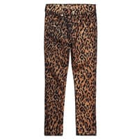 7 For All Mankind Kids Girls Gold 'Cheetah Print' Skinny Fit Jeans