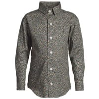 UNRULY BLUE Boys Green Liberty-Print Shirt
