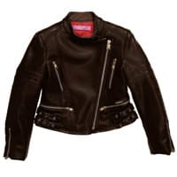 ValMax Girls Brown Leather Jacket