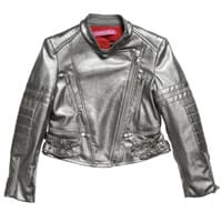 ValMax Girls Silver Leather Jacket