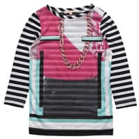 Venera Arapu Girls Necklace Print Long Top