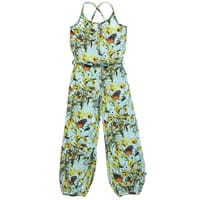 Wild Girls Blue Butterfly Print Viscose Jumpsuit