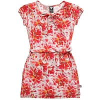 Wild Red Dahlia Print Viscose 'Alice' Dress